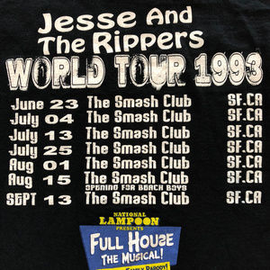 Vintage Shirts - 1993 Jesse and the Rippers Shirt Full House Band